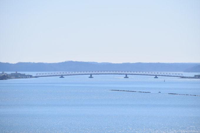 厚岸望洋台からの厚岸大橋