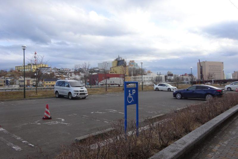 釧路河畔駐車場