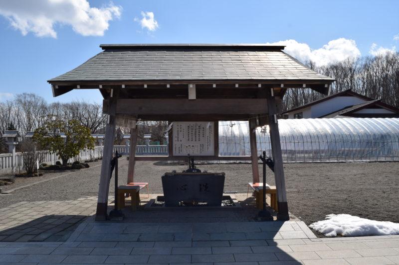 樽前山神社の手水舎と毎月の祭事