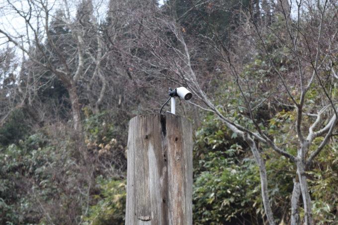 水汲み場にある監視カメラ