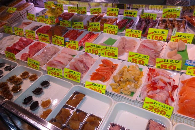 勝手丼の海鮮ネタ