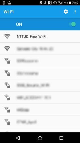 SSID「NTTUD_Free_Wi-Fi」を選択。