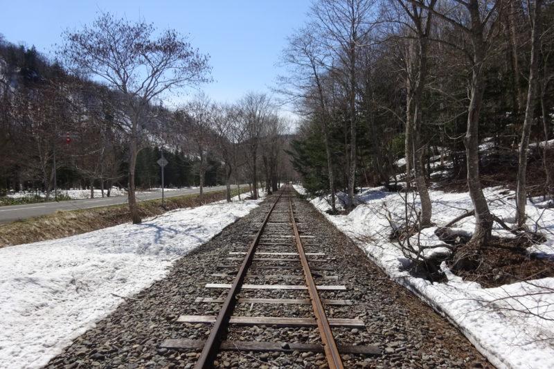 トロッコ列車は北海道道49号美深雄武線を並行して走ります
