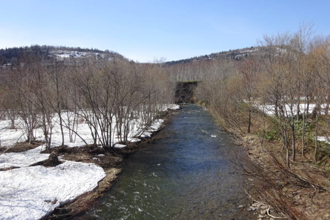 二十五線川(25線川)とペンケニウプ川の合流付近