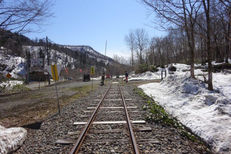 トロッコ列車折り返し地点