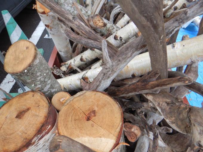 北海道のダムにおける流木の無料配布