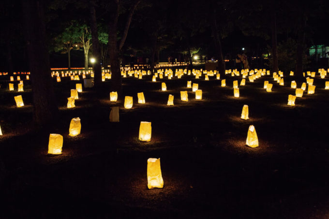 LIGHT UP NIPPON HOKKAIDOキャンドルアート