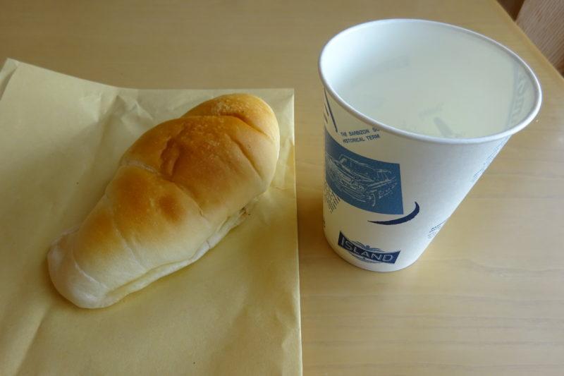麦音のパン購入時にレジにて専用カップ