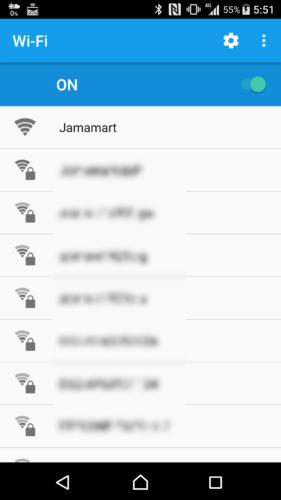 SSID「Jamamart」を選択。