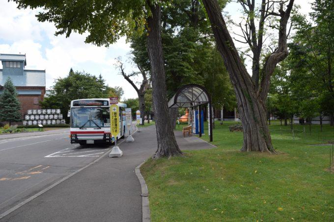 バス停名「サッポロビール博物館」