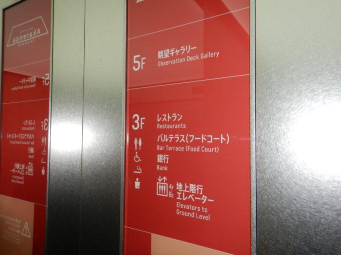 赤れんがテラステラス計画専用エレベーター