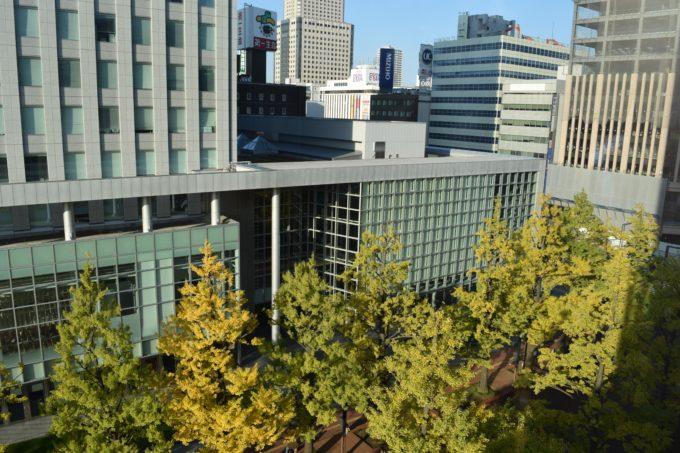 札幌市北3条広場(アカプラ)の札幌駅前通方面