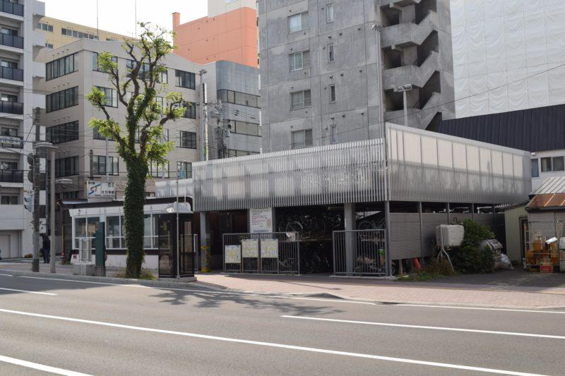 地下鉄12条駅札幌市自転車駐車場