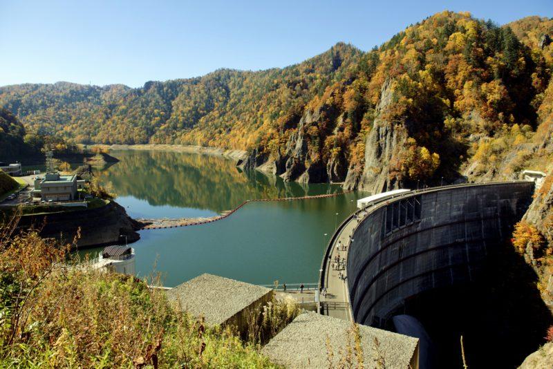 豊平峡ダムの紅葉