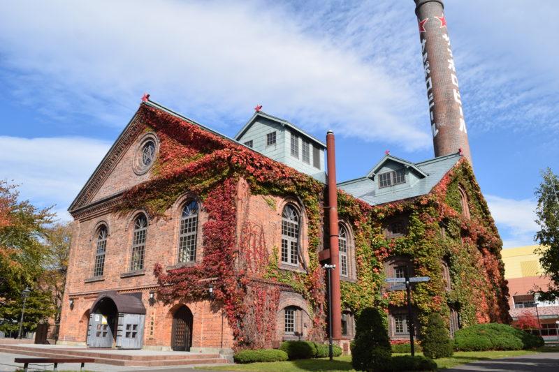 サッポロビール開拓使館のツタ紅葉