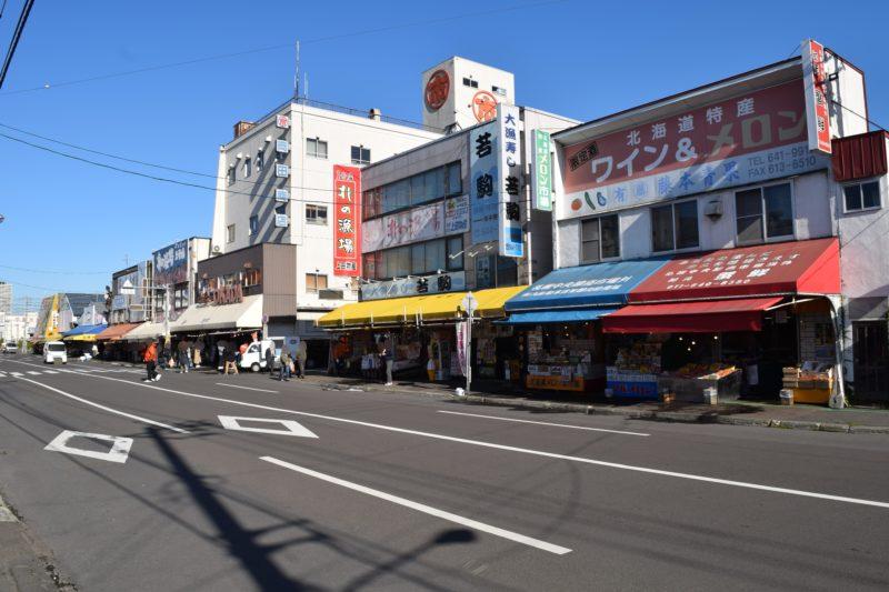 岡田ブロック、第八市場、さっそん、おたる市場、札幌第一卸売市場のブロック