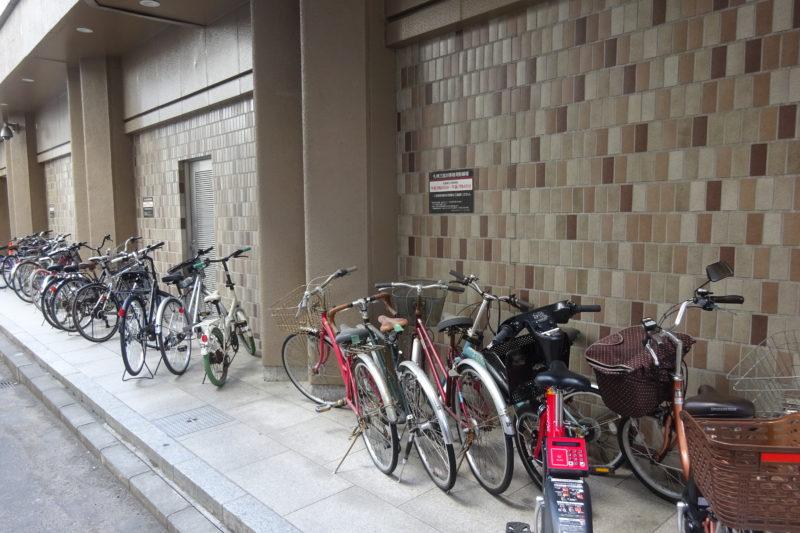 札幌三越の無料駐輪場