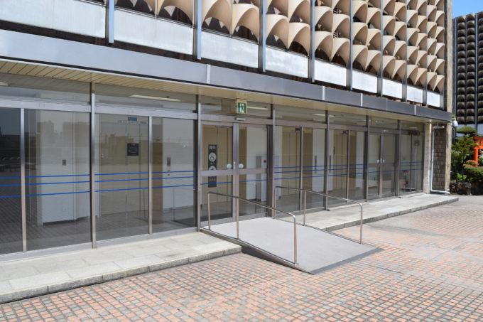 札幌三越屋上広場のエレベーターホール