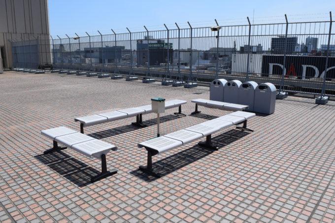 札幌三越屋上喫煙スペース