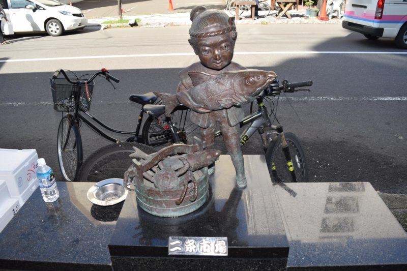 二条市場の銅像