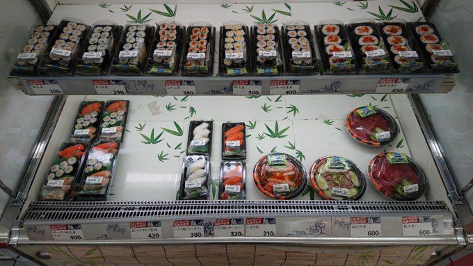 セイコーマート南8条店の寿司ラインナップ