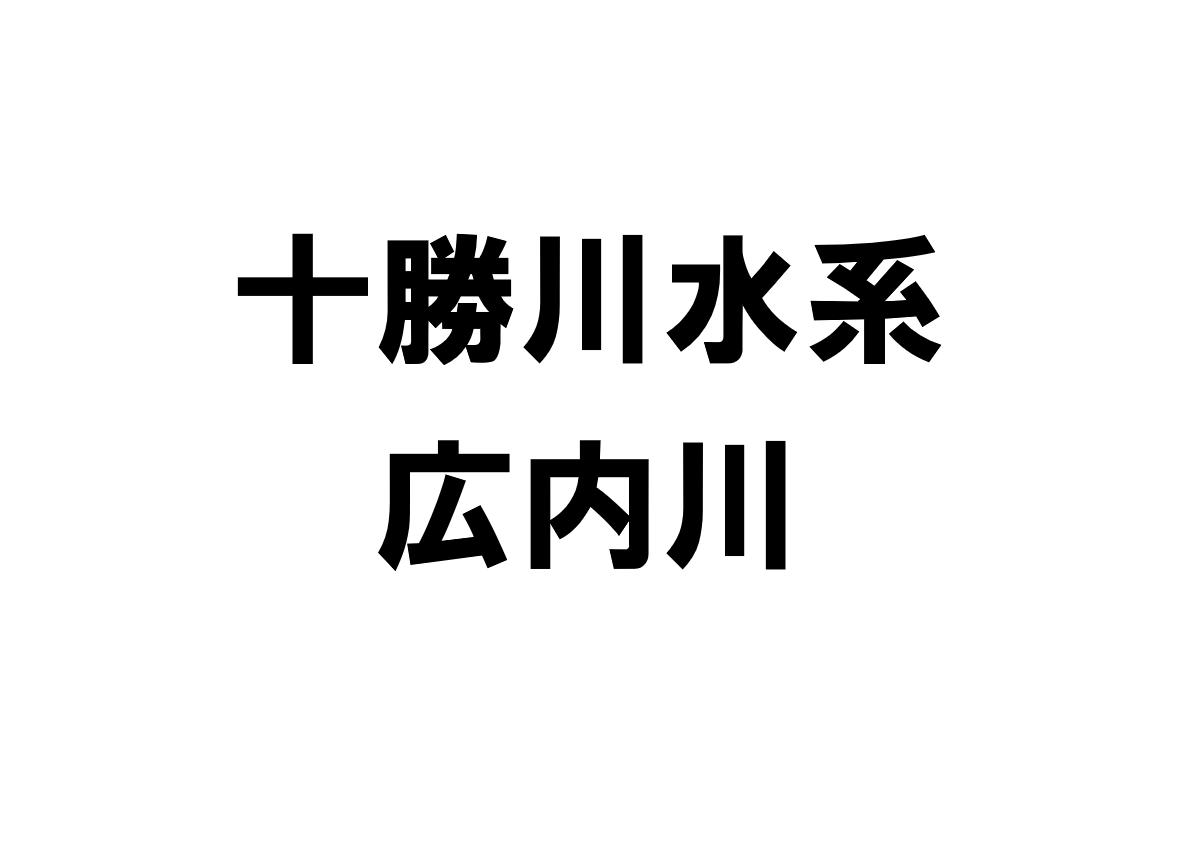 広内川(十勝川水系)の河川ライブカメラ一覧