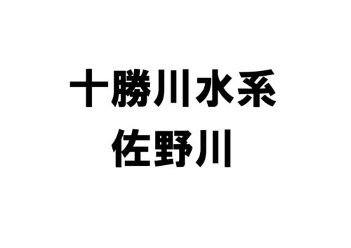 佐野川(十勝川水系)の河川ライブカメラ一覧